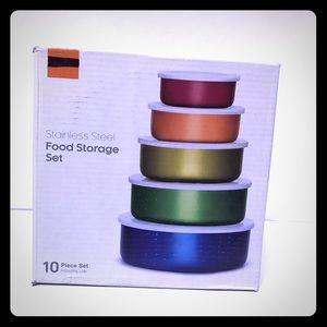10pc stainless steel food storage set